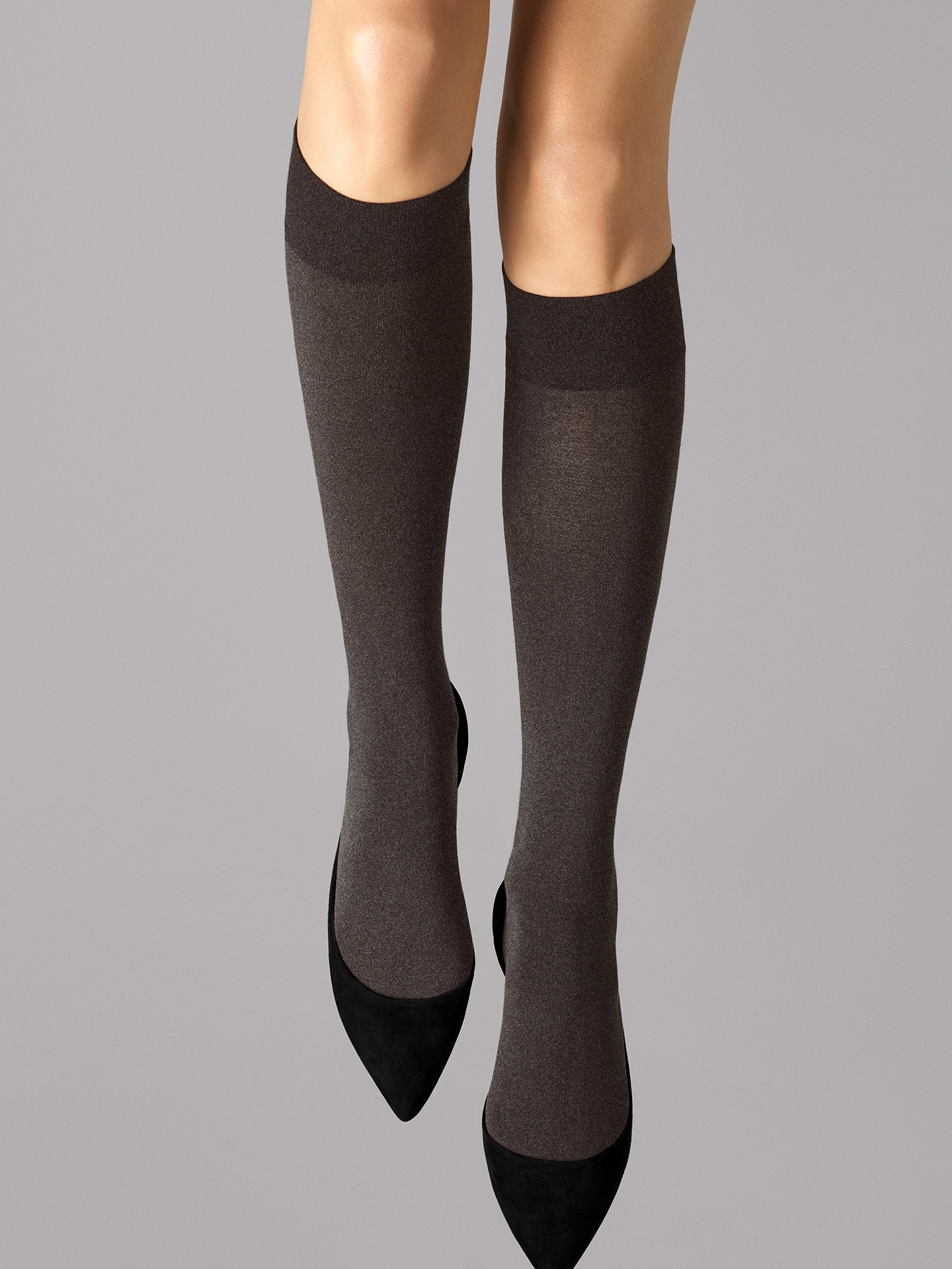 Wolford Apparel & Accessories > Clothing > Gambaletti Cotton Velvet Knee-Highs - 9274 - M